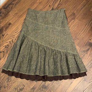 H&M brown midi skirt 4